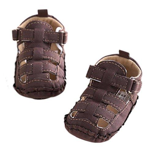 Culater® Ragazzi del bambino pattini della greppia scavano fuori morbida suola antiscivolo sandali del bambino Sneakers Caffè