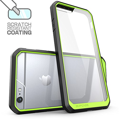 Apple iPhone 6 Plus / 6S Plus (5.5 Zoll) Hülle, SUPCASE Unicorn Beetle Premium Case / transparente Schutzhülle Grün