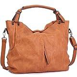 WISHESGEM Handtaschen Damen Taschen Hobo Umhängetaschen Schultertaschen Handtaschen PU-Leder...