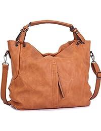 8f4f930b34497 WISHESGEM Handtaschen Damen Taschen Hobo Umhängetaschen Schultertaschen  Handtaschen PU-Leder Henkeltaschen…