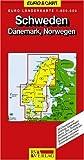 RV Euro-Länderkarte 1:800 000 Schweden - Dänemark, Norwegen -