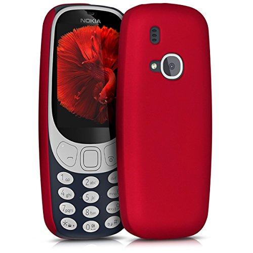 kwmobile Custodia in plastica rigida per Nokia 3310 (2017), Rosso scuro metallizzato