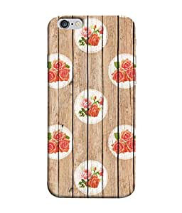 PrintVisa Designer Back Case Cover for Apple iPhone 6s Plus :: Apple iPhone 6s+ (Wooden Surface With Pink Flowers)