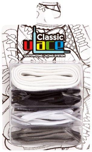 U-Lace Pack Of Shoe Laces, Lacets de chaussure mixte adulte - Multicolore - Yanks, Taille unique