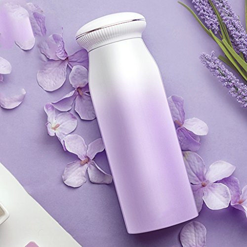 Mugs Insulation Cup Male And Female Vacuum Stainless Steel Cups Fashion Carrying Cups Student Children Portable Cups Tasses/mugs et soucoupes (Color : Purple)