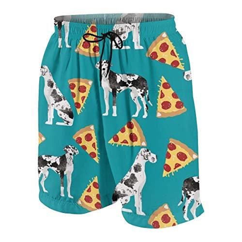 Pillow Socks Great Dane Pizza Cute Dogs Boys Beach Shorts Quick Dry Beach Swim Trunks Kids Swimsuit Beach Shorts,Boys' Silver Ridge III Short S - Mlb Kids Shorts