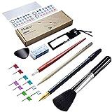 Haice Multi Weltkarte-Werkzeugkoffe, DIY 15 Teilige Werkzeugset, Premium Marker Aufkleber Karten Zubehör Neuheit für Weltkarte zum Rubbeln, XXL