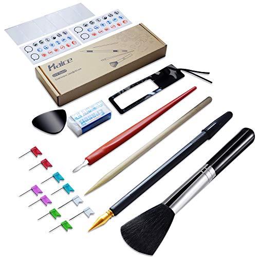 (Haice Multi Weltkarte-Werkzeugkoffe, DIY 15 Teilige Werkzeugset, Premium Marker Aufkleber Karten Zubehör Neuheit für Weltkarte zum Rubbeln, XXL)
