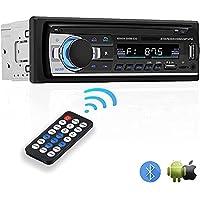 NK Autoradio Bluetooh - Fonction AUX, Fadio FM 87,5 - 108Mhz AMS, Lecteur MP3 et Double Port USB, Stéréo FM, Mains…