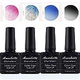 Annabelle Esmaltes Permanentes Para Uñas Nail Art Soak Off UV LED Esmalte Permanente de gel (Lot 4 pcs 7.3ML/pc) 025