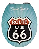 Wenko Vintage Route 66 Asiento de Inodoro, MDF, Blanco, 44.5x38.8x275 cm