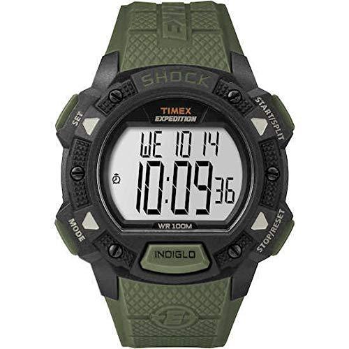 Timex TW4B09300 Montre à quartz pour homme, affichage numérique, bracelet en résine