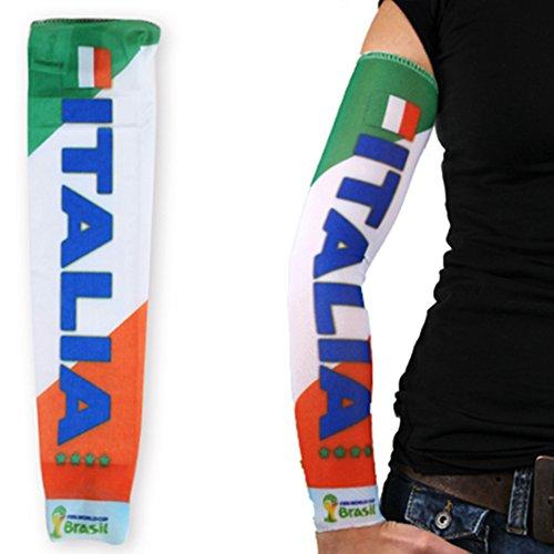 Taffstyle® WM 2014 Fan Fußball Tattoo Ärmel Sleeve Fanartikel Strümpfe mit Fussball Weltmeisterschaft & EM Länder Fahne Trikot Style Skin Kostüm - Italien