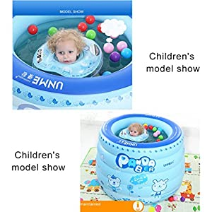Vasche da bagno piedini Piscina gonfiabile per bebè bambini neonati isolamento domestico coperta grande rotonda 1-3 bambini vasca da bagno per bambini