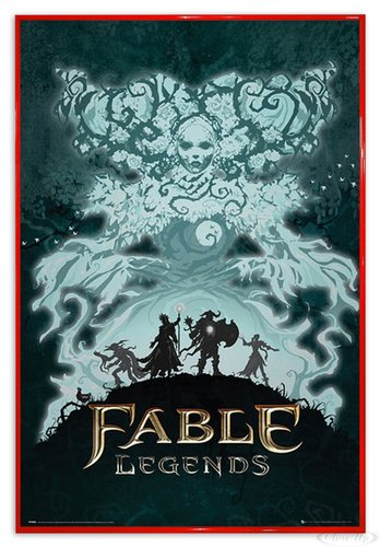 Close Up Fable Legends Poster White Lady (94x63,5 cm) gerahmt in: Rahmen rot