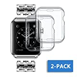 NotoCity Apple Watch Gehäuse Transparent Anti-Scratch Licht Bildschirm Protector Ultra-dünne Weiche TPU-Abdeckung Rundumschutz Beständige Schutzhülle Apple Watch Series3 series2 (transparent)