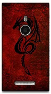 The Racoon Grip Red Dragon hard plastic printed back case / cover for Nokia Lumia 925