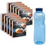 Bellima Filterfächer - Das MUSS für Teetrinker (10 Pakete á 30 St.) - GRATIS: 3/4 L TRITAN Wasserflasche ohne Weichmacher