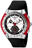 Tissot T-TRACX - Reloj cronógrafo de caballero automático con correa de piel negra (cronómetro) - sumergible a 100 metros