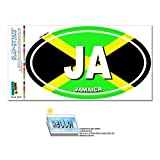 Jamaika Land Flagge-Ja Euro Oval Flagge Slap-Stickz Aufkleber Automotive Auto Fenster Spind Bumper Kofferraum Aufkleber