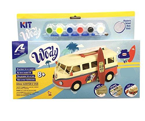 Artesanía Latina Kit de Modelo de Madera para niños +8: Surfer\'s Van