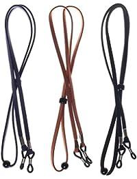 ruix 3Piezas Soporte para Gafas, diseño de Cadena, Piel sintética Soporte para Gafas, diseño de Correa Soporte para Gafas, diseño de Cables para