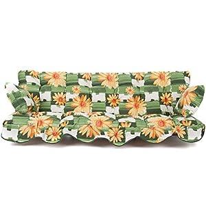 PATIO Auflagen Set Minorca 184 für Hollywoodschaukel Polsterauflage Sitzkissen Rückenkissen Seitenkissen Gesteppt…