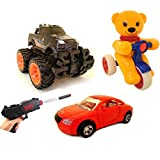 #6: HALO NATION Unbreakable toyset with 4X4 rock crawler, scooter, Car audi and a toyGun