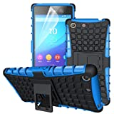 betterfon | Outdoor Handy Tasche Hybrid Case Schutz Hülle Panzer TPU Silikon Hard Cover Bumper für Sony Xperia M5 Blau