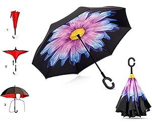 Doble Capa Invertida Umbrella Coches