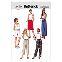 Butterick Ladies Easy Sewing Pattern 3460 - Skirts, Shorts & Trouser Pants Sizes: 14-18