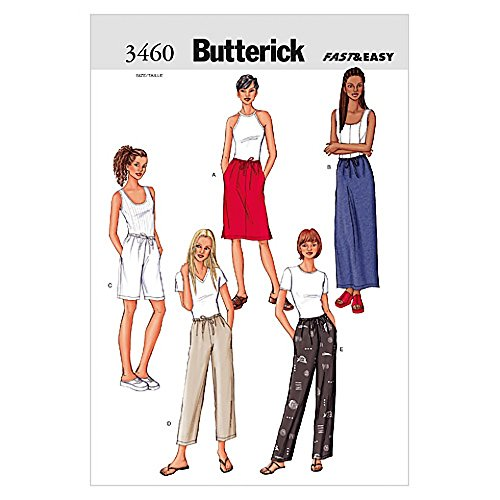 Butterick Ladies Easy Sewing Pattern 3460 - Skirts, Shorts & Trouser Pants Sizes: 20-24