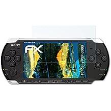 3 x atFoliX Antichoque Película Protectora Sony PSP-3000 Protector Película - FX-Shock-Clear