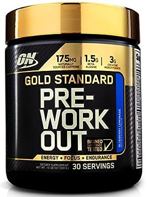 Optimum Nutrition Gold Standard Pre-Workout, Blueberry Lemonade 10.58 oz. (300g from Optimum Nutrition