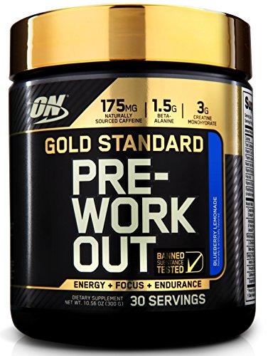 Optimum Nutrition Gold Standard Pre-Workout, Blueberry Lemonade 10.58 oz. (300g by Optimum Nutrition - 512JPrC6eoL