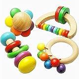 Wildlead Neue Baby Holz Rassel Spielzeug Handbell Musikalische Ausbildung Schlaginstrument