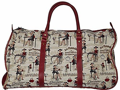 Trolley Reisetasche Gobelin-Stil Signare Handgepäck Reise Tasche Gepäck Urlaub V Fa. Bowatex (Katzenfamilie) Cafe Paris