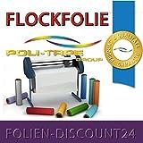 (EUR 25,80 / Quadratmeter) FLOCKFOLIE PURPLE 514 BÜGELFOLIE TOP ! Preistip Flex Flock 1 M x 50 cm