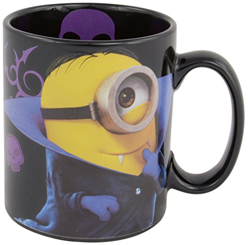 Minions - Taza (Sorry I'm Bad, 320 ml), diseño de vampiro, color negro