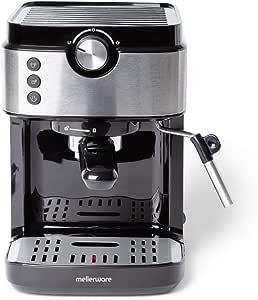 Mellerware Bari Legend Macchina per caffè espresso programmabile da 20 bar. Riscaldamento Thermoblock con controllo elettronico della temperatura, caffè personalizzabile e filtro extra cream.