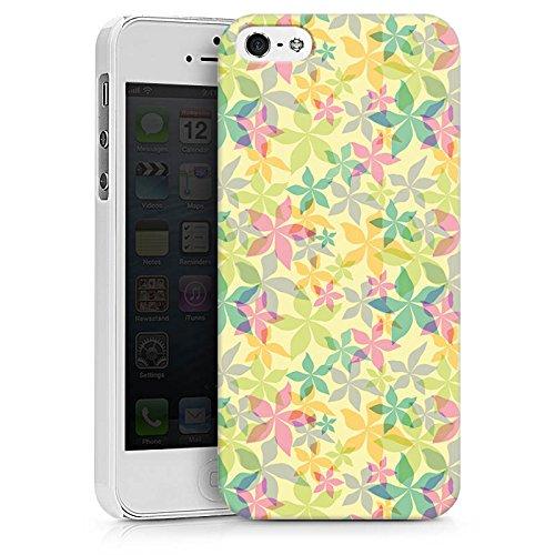 Apple iPhone X Silikon Hülle Case Schutzhülle Bunt Muster blumen Hard Case weiß