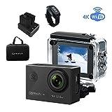 Action Kamera 4k Unterwasserkamera Wasserdicht ,Wi-Fi 16MP 170 Weitwinkel Objektiv Foto Kamera,...