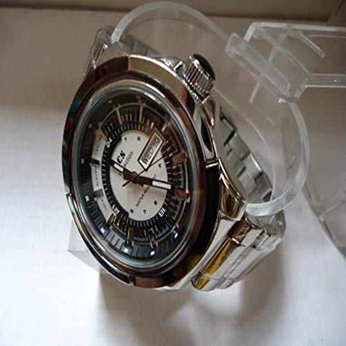 nische Uhren Edelstahl Casual Business Herrenuhren Exquisit (Farbe : Black) ()
