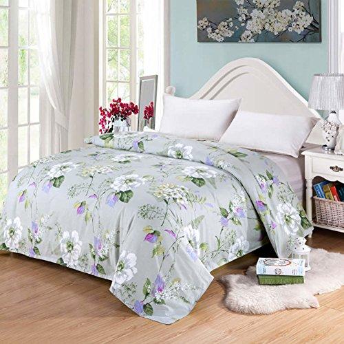UYDBKSJABM Cotton Einzelstück Tröster Komplettset Denim Quilts Bettbezug-B 160x210cm(63x83inch) - Baumwolle Denim Tröster