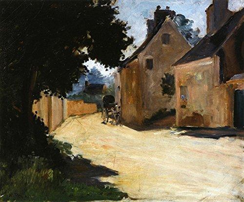 Das Museum Outlet-Village Street, Louveciennes, 1871-72, gespannte Leinwand Galerie verpackt. 29,7x 41,9cm