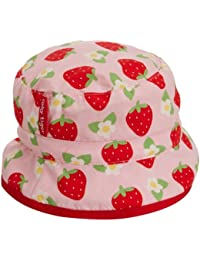 Toby Tiger Baby Girls Strawberry Reversible Sunhat Hat