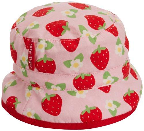 Toby Tiger Baby - Mädchen Mütze Pink Strawberry Reversible Sunhat, Gr. 80 (Herstellergröße: 6-12 Months), rosa -