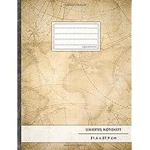 "Liniertes Notizbuch • A4-Format, 100+ Seiten, Soft Cover, Register, Mit Rand, ""Travel Journal"" • Original #GoodMemos Lined Notebook • Perfekt als Deutschheft, Schulheft, Übungsheft, Lineatur 27"