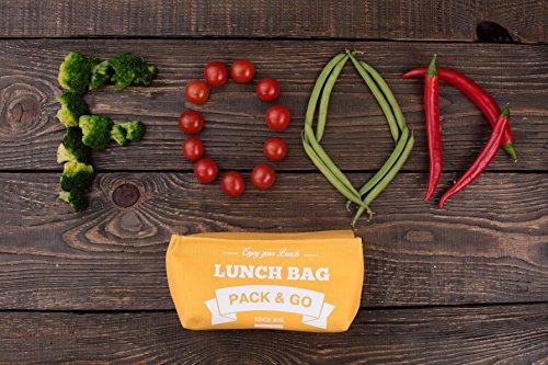 Pranzo borsa unisex Scatola S. déjeuner. sacchetto di picnic lavabile. Sandwich e borsa a scuola per merenda o al lavoro. Scatola a aliments. Sacchetti a Lunch rosso (Berry) Dark blue