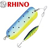 Rhino Flasher 20cm mit Softfish Lure 10.5cm 0,60mm 1/0 Schleppköder, Trollingköder, Gummifische, Angelköder Meerforelle, Lachs, Dorsch